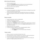 Student led Discussion Handout for any subject