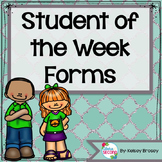 Student of the Week Forms