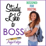 Study Like a BOSS {Secondary Study Skills BUNDLE}