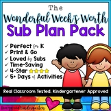 Sub Plans! The week-long SUPER MEGA PACK!  5 days, 4 great books!