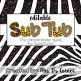 Sub Tub - Jungle Safari Theme - Ultimate Substitute Teache