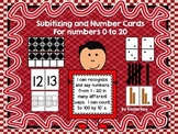 Subitizing and Number Cards For Numbers 0 to 20