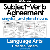 Subject-Verb Agreement Common Core Practice Sheets L.1.1.C