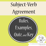 Subject Verb Agreement Rules, Examples, Quiz, and Key