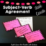 Subject-Verb Agreement Task Cards {Common Core Aligned}