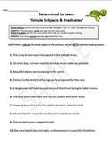 Subjects and Predicates (Simple & Complete) Worksheets