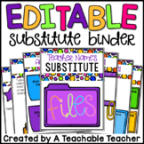 Substitute Binder - Editable