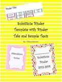 Editable Substitute Binder Template