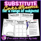 Substitute Cover Lesson Idea and printables *FREEBIE*