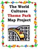 World Cultures Theme Park Map Project - Social Studies/Sub