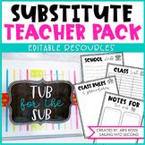 Substitute Teacher Binder {Editable Pack}