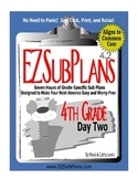 EZSubPlans: Emergency Absence Plans Grade 4 Day 2
