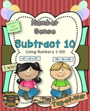 Subtract 10: Numbers 1 - 100 {Tug-of-War}