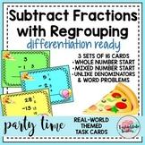 Subtract Fractions w REGROUPING~Unlike Denominators Task C