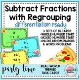 Subtract Fractions w REGROUPING~Unlike Denominators Task C