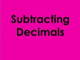 Subtracting Decimals PowerPoint by Kelly Katz