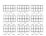Subtracting with Ten Frames Blank Template