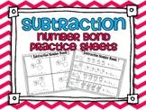 Subtraction Common Core Number Bond Practice Pages