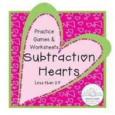 Subtraction Practice Games and Worksheets for less than 25