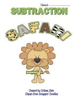 Subtraction Safari Mini Unit K-2 (1.OA.6)