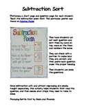 Subtraction Sort Activity