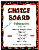Subtraction Strategies Choice Board