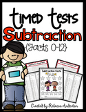 Subtraction Timed Tests (0-12) Print N' Go
