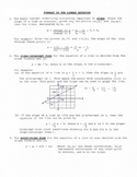 Summary of the Linear Equation