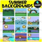 Summer Backgrounds Clip Art Bundle
