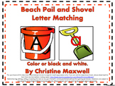 Summer Beach Pail and Shovel Letter Matching Color or Blac