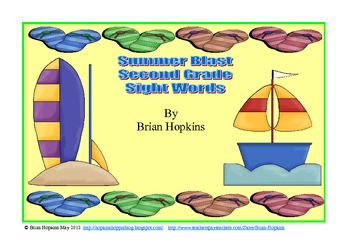 Summer Blast 2nd Grade Sight Words Strategy Game
