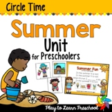 Summer Preschool Centers and Circle Time