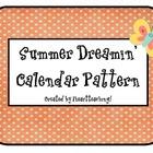 Summer Dreamin' Algebra Calendar Pattern