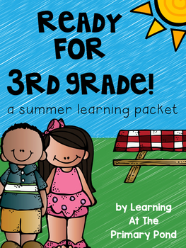 Summer Homework Pack for Rising Third Graders (who have completed 2nd grade)