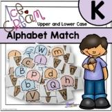 Summer Ice Cream Upper and Lower Case Alphabet Match