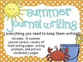 Summer Journal Writing {everything you need to keep them w