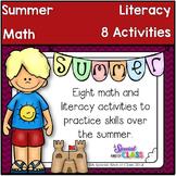 Summer Kindergarten Math and Literacy Activities