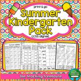 Summer Kindergarten Pack ~ Print & Go ~ CCSS Aligned