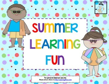 Summer Learning Fun! ~  Summer Calendar & Sight Word Activities