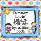 Summer Lovin' Labels-editable