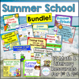 Summer Math and Literacy Bundle ~ Summer School Stash!