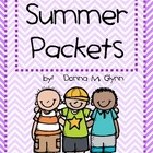 Summer Packet Fun (Month by Month) 2015