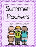 Summer Packet Fun (Month by Month) 2014