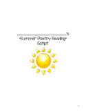 Summer Poetry Readng Script