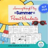 Summer Preschool Speech and Language Packet: Learning Thro