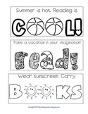 Summer Reading Printable Bookmarks to Color