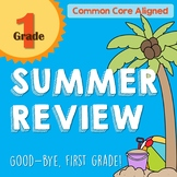 Summer Review Packet for 1st Grade- Common Core Aligned