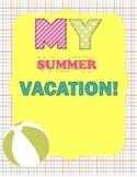 Summer Scrapbook Template