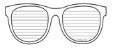 Sunglasses Writing Template