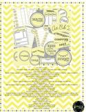 Sunny Days Back to School Organizational printables for teachers